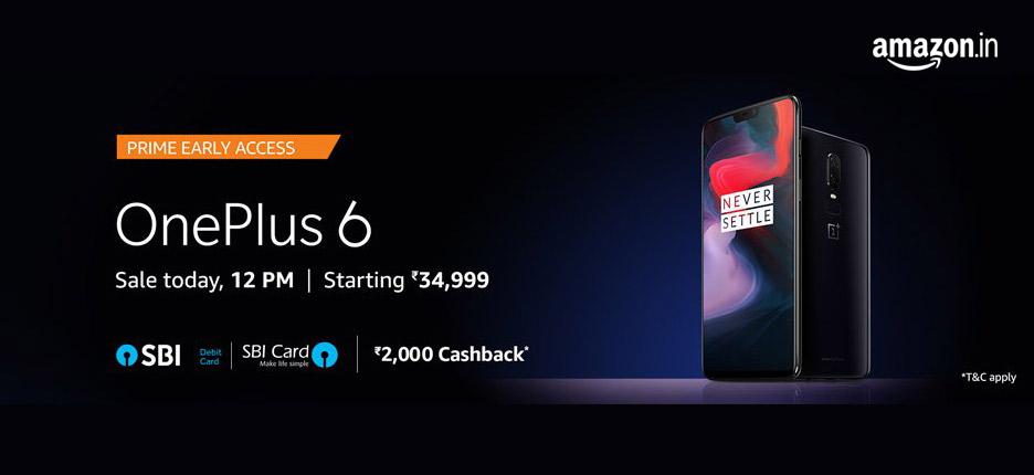 OnePlus 6 @Amazon